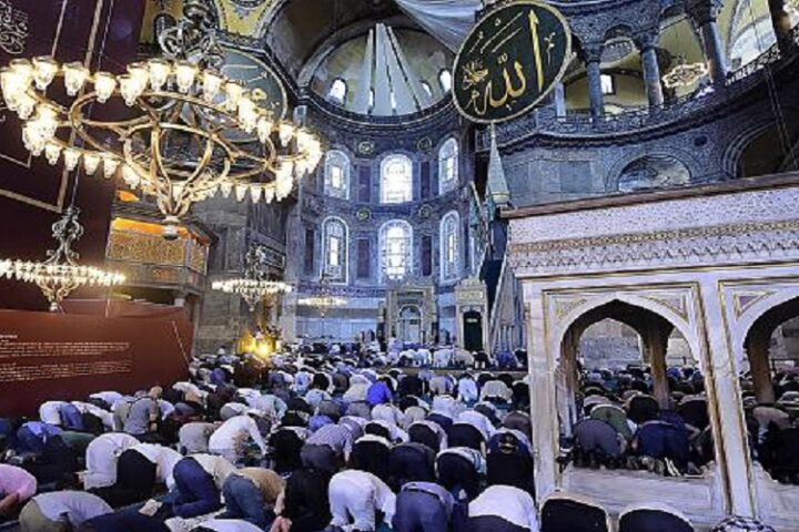 Muslims offered Friday Prayers at Hagia Sophia after 86 years