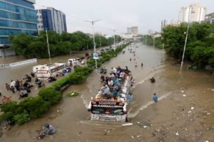Record breaking Rain collapsed Karachi again