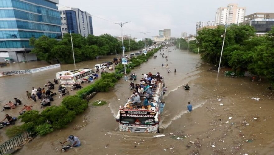Record breaking Rain collapsed Karachi again