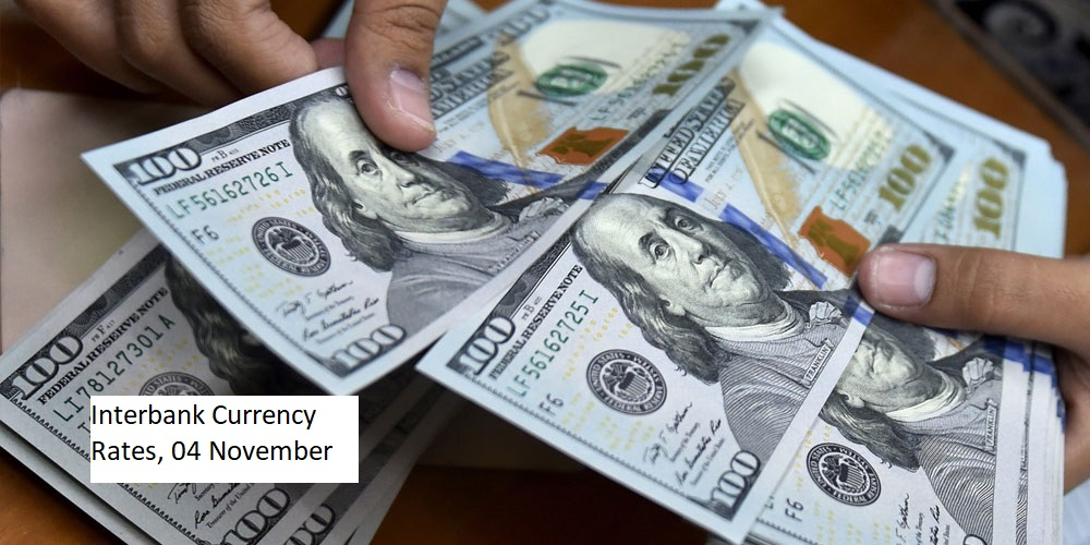 Interbank Currency Rate in Pakistan, 4 November 2020