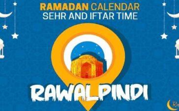 Ramadan calendar Rawalpindi 2021